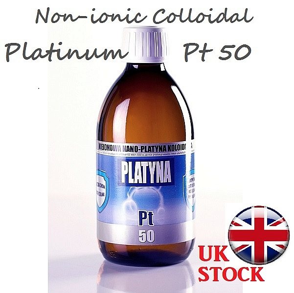 300ml PLATINUM Colloidal Non-ionic Pt50 Nano 5ppm
