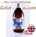 300ml GOLD Colloidal Non-ionic Au100 Nano 10ppm